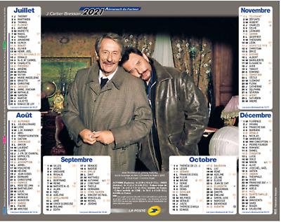 Calendrier Johnny Hallyday & Jean Rochefort La Poste 2021 Almanach