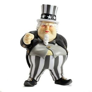 KidRobot-UNCLE-SCAM-8-Inch-Vinyl-Figure-Black-Edition-by-Ron-English-RARE-MIB