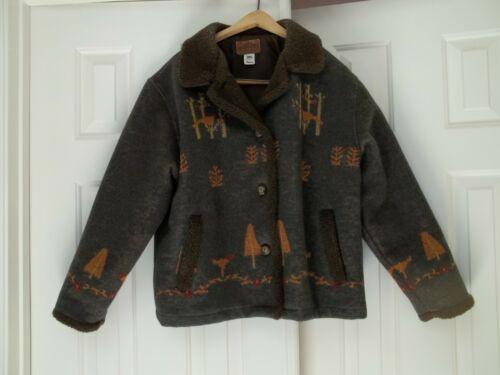Pendleton Original Blanket Wool Nature Jacket Bird
