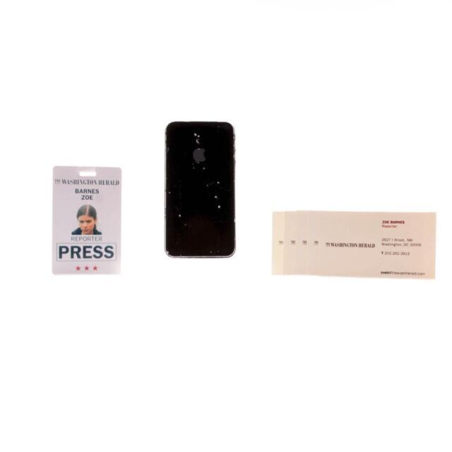 House of Cards Zoe Barnes Kate Mara Screen Used Id Phone & Business Card Set