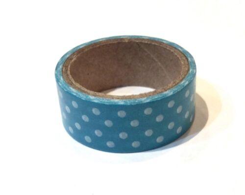 Azul Y Blanco Manchada cinta de 15mm de ancho