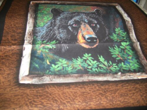 """Accent throw pillow COVER 15/""""  black bear facing right"""