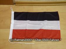 Fahnen Flagge Deutsches Reich Reichsflagge 420  Bootsfahne Tischwimpel - 30x45cm