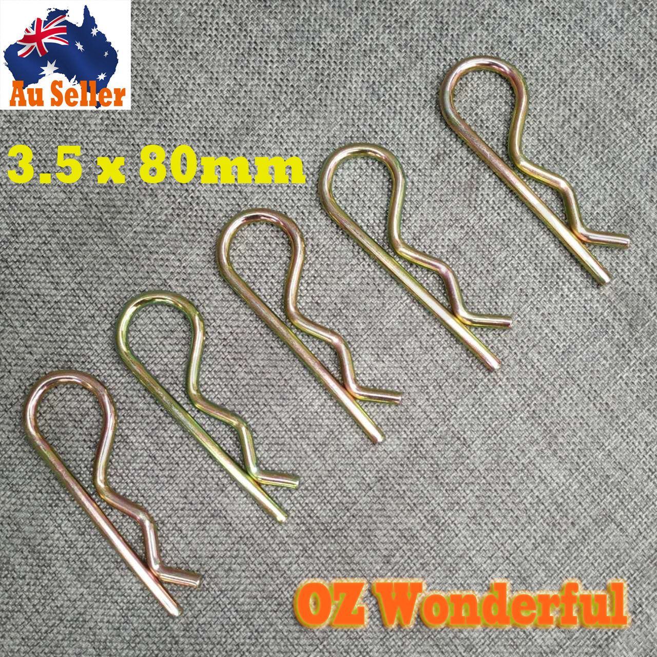 10pcs Hitch Pins R Pin Clips Assortment Hardware Tool Lynch Linch ...