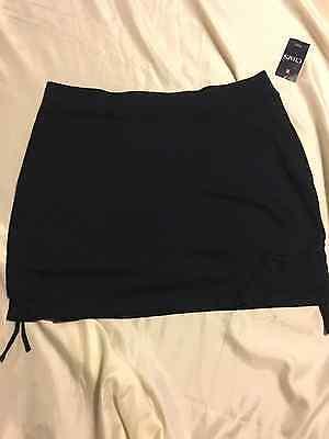 Women Elastic Waist Green//12 or Blue//1X Sonoma Pull On Short Skirt