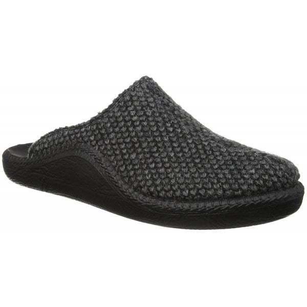 Romika MOKASSO 233 Para Hombre Cómodos textil de fieltro gris cálido Mula Pantuflas Combi