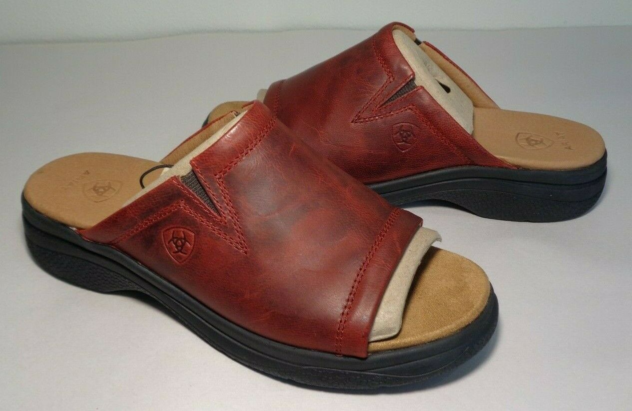 Ariat Taille 6 M Bridgeport Rouge Sandales En Cuir Neuf Chaussures Femmes