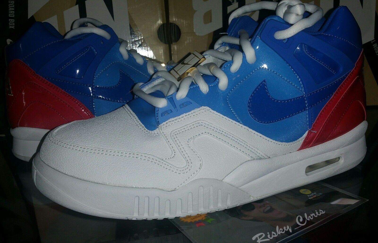 NIKE AIR TECH CHALLENGE II SP US OPEN SZ 10.5 621358-146 Andre Agassi USA NEW DS