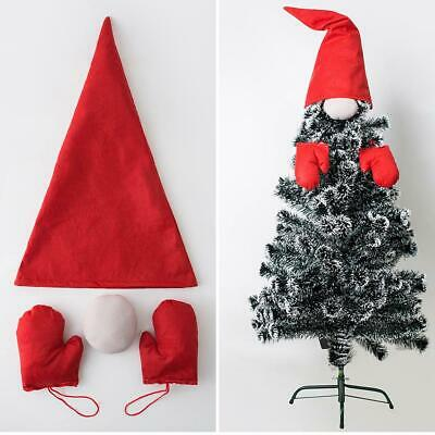 Xmas Christmas Tree Top Hat Nose Gloves Gnome Ornament Hanging DIY Decoration