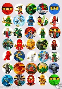 ninjago cup cakes toppers party 3 75cm cut out edible new image
