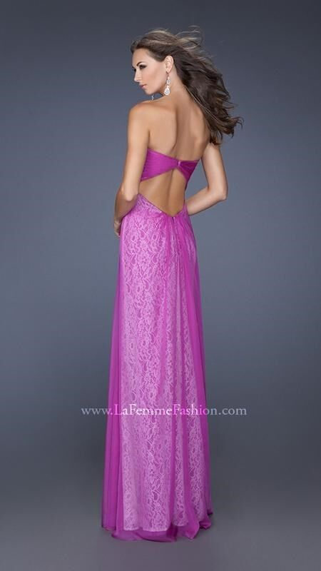 398 NWT MAGENTA LA FEMME PROM PAGEANT FORMAL DRESS GOWN
