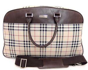 15d286a72b9f Image is loading Authentic-BURBERRY-Nova-Check-canvas-2way-Boston-Weekend-