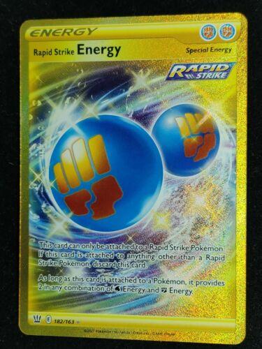 POKEMON BATTLE STYLES RAPID STRIKE ENERGY SECRET RARE NEAR MINT 182/163