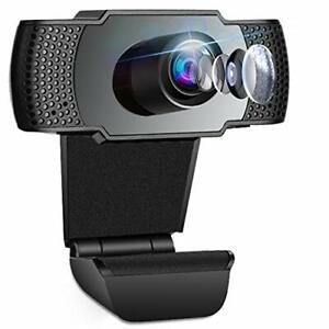 Webcam, Webcam per PC Fisso, Telecamera per PC con Microfono Full HD HD 1080P,
