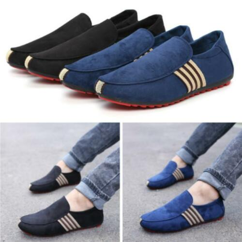 Men Fashion Loafer Slip On Shoes Breathable Casual Canvas Boat Driving Shoe JJ