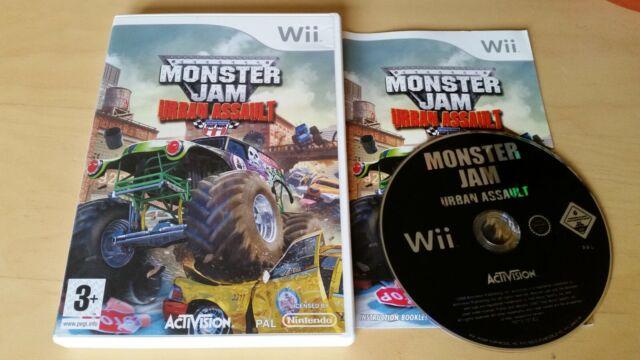 Monster Jam: Urban Asalto (Nintendo Wii, 2009) - Monster Trucks 1-4 Jugadores