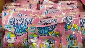 Lot of 6 New Cool Things Mini UNICORN DOLLS Figures Surprise Packs Blind Bags