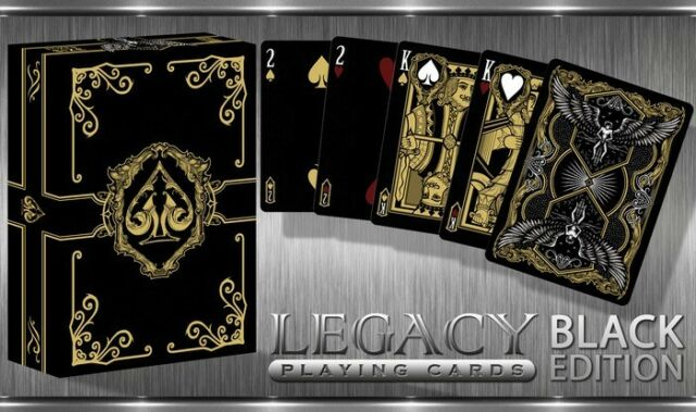 Black Legacy Limited Edition Playing Cards Deck New