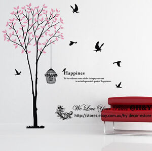 Image Is Loading Giant Bird Tree Cage Wall Art Decal Removable  Part 98
