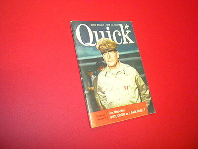 Quick Pocket Magazine May 19,1952 Mini News Weekly 68 Pages General Macarthur Exquisite Traditional Embroidery Art Entertainment Memorabilia