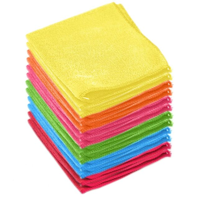 Microfiber Cleaning Cloth Towel Absorbent No Scratch Polishing Detailing Rags