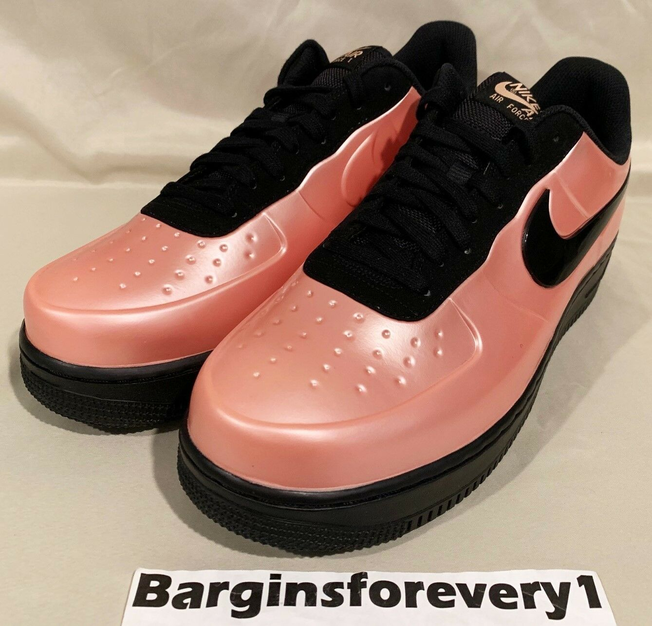 4e710134b2 New Nike AF1 Foamposite Pro Cup - Size 12 - Coral Stardust Black - AJ3664-