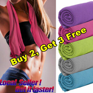 Instant-Cooling-Towel-ICE-Cold-Pad-Golf-Cycling-Jogging-Gym-Sports-Outdoor-Yoga