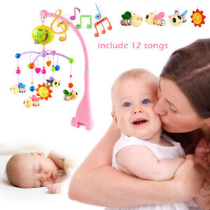 12-Song-Bed-Bell-Kids-Crib-Musical-Mobile-Cot-Music-Box-Gift-Baby-Rattles-Toy-UK