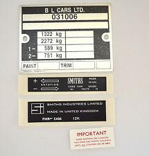 MG MGB GT 75-80 Aufkleber Sticker Platte Kit {MGK2013} Karosserieblech grafik