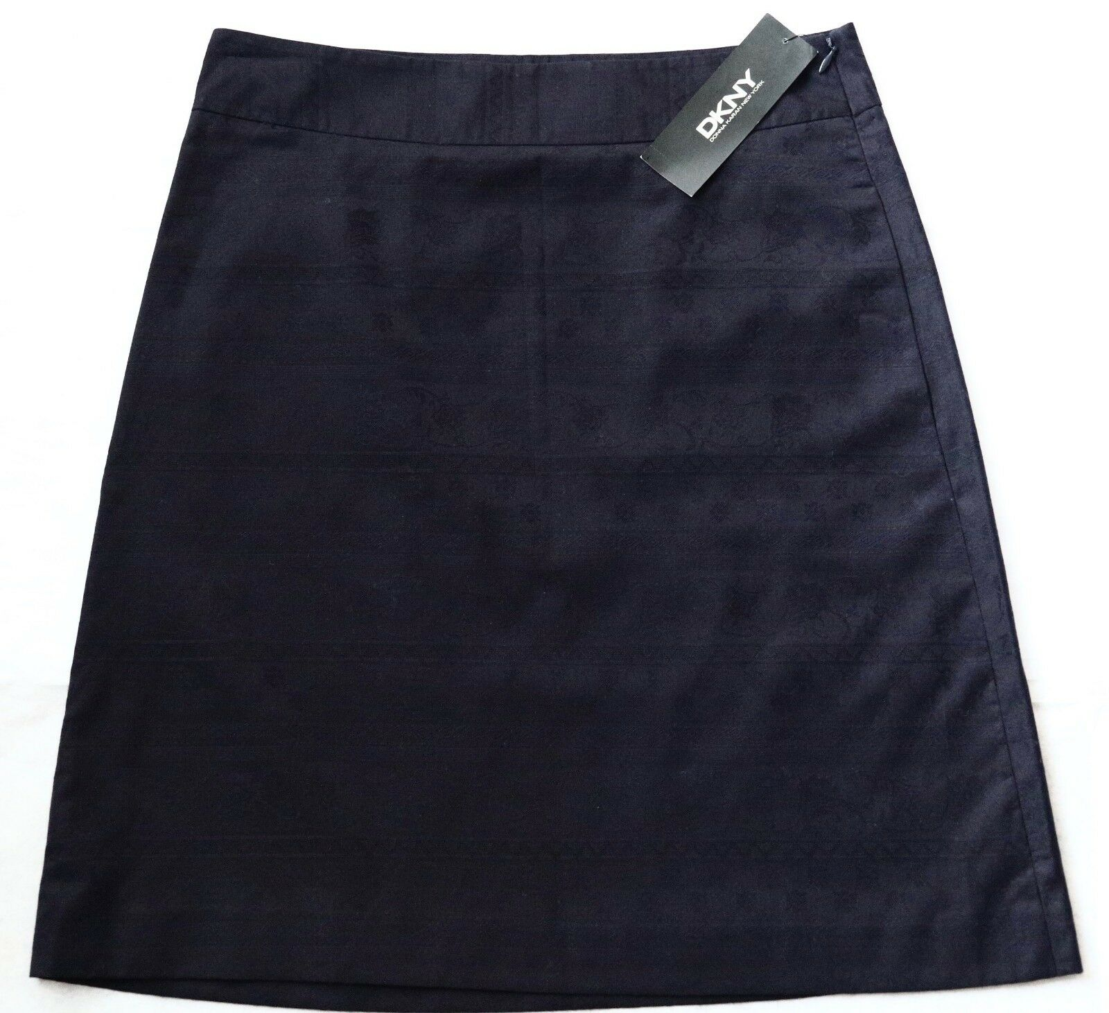 225 NWT DKNY women Karan New York Skirt 4 Small S Navy bluee Cotton Pencil New