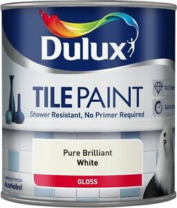 Image Is Loading Dulux Tile Paint Gloss Pure Brilliant White Shower