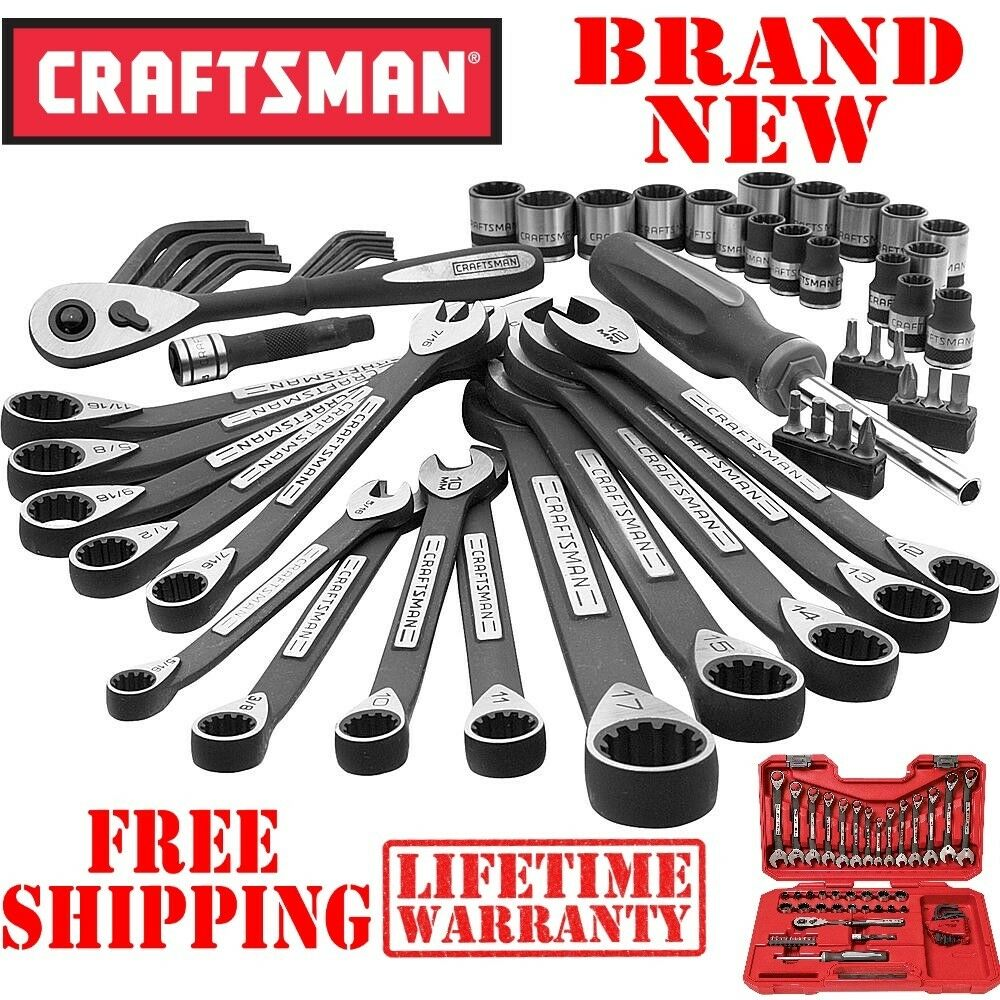 New CRAFTSMAN 56pc PIECE Universal Mechanics TOOL SET Metric SAE w CASE