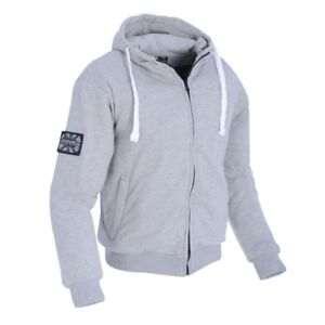 Details about New Oxford Super Hoody Grey Summer Motorcycle Jacket made  with Kevlar Hoodie