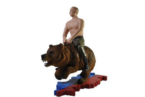 WLADIMIR PUTIN FIGUR AUF EINEM BÄR RUSSLAND RUSSIA RUSSLAND KGB CCCP FSB UDSSR