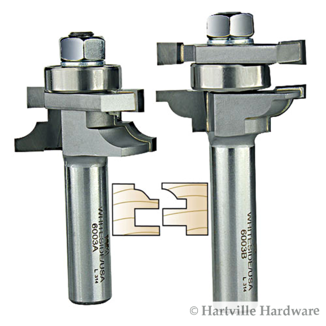 Whiteside Router Bits 2309 Edge Bevel Bit with 30-Degree 7//8-Inch Cutting Length