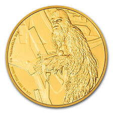 '2017 Niue 1/4 oz Gold $25 Star Wars Chewbacca Proof (Box & COA)' from the web at 'https://i.ebayimg.com/images/g/aXkAAOSwlmxZcBUv/s-l225.jpg'