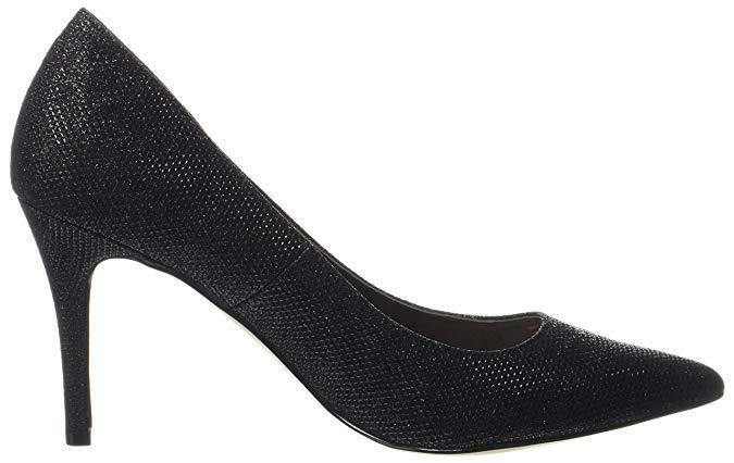 CARVELA KG KRAY 2 8 SIZE 4 8 2 BLACK SPARKLY MID HIGH HEEL COURT Schuhe BNWB 62c49f