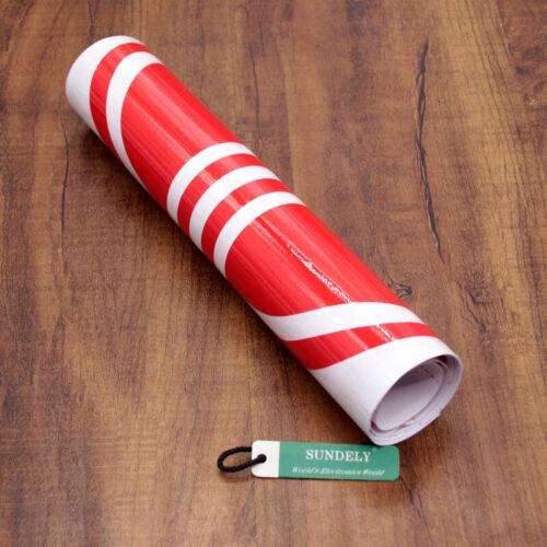 Universal Car Racing Body Stripe Pinstripe Hood Side Decals Vinyl Sticker Red
