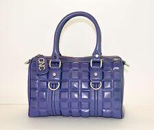 C'N'C COSTUME NATIONAL Authentic Doctor Bag Handbag Blue Leather Med $1500