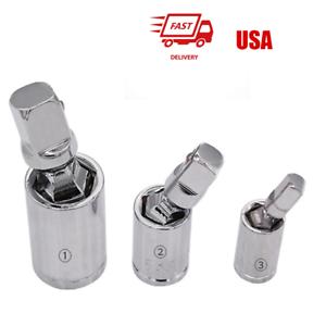 "Universal Joint Set Ratchet Angle Extension Bar Socket 1//4/"" 3//8/"" 1//2/"" hot sale"