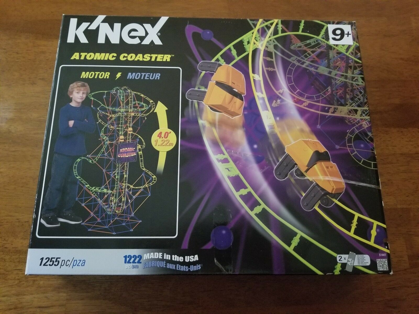 K'NEX Atomic Coaster Building Set Motorized 4' High 2012 COMPLETE