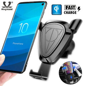 Gravity-Car-Wireless-Charger-Qi-Fast-Charging-Holder-For-iPhone-XS-Samsung-S10