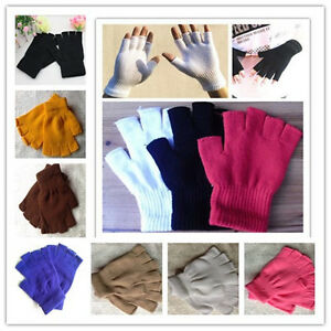10 Colors New Free Unisex Fashion Magic Weave Fingerless Half Finger Gloves