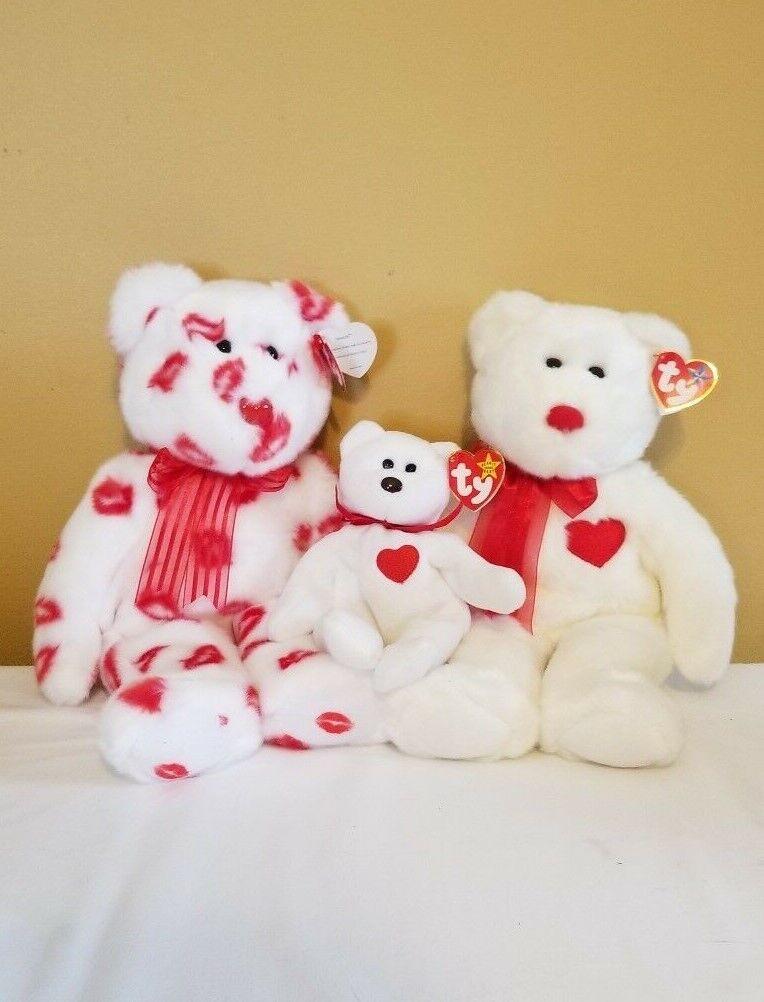 Beanie Buddies Babies Valentino 4058 Smooch Valentine Lot