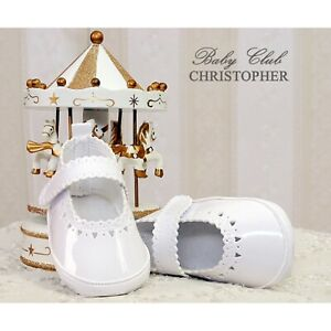 Mädchen Taufschuhe Babyschuhe Taufe Festlich ivory 17 18 19 20 Neu