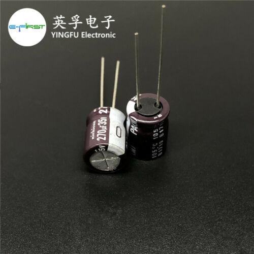 10pcs//100pcs 270uF 35V270UF 10x13 Nichicon PA Low Impedance Miniature Capacitor