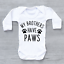miniature 2 - My Brothers Have Paws Baby Vest Grow Bodysuit Funny Baby Shower Baby Gift Pets