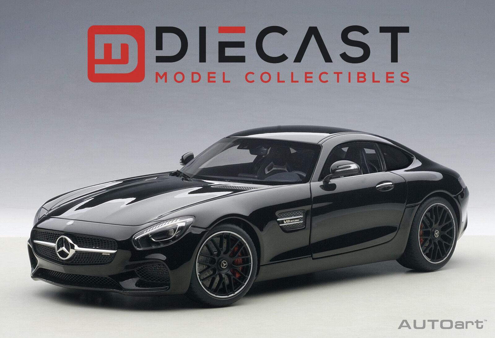 Autoart 76313 Mercedes-AMG GT S (negro Brillante) 1 18TH Escala