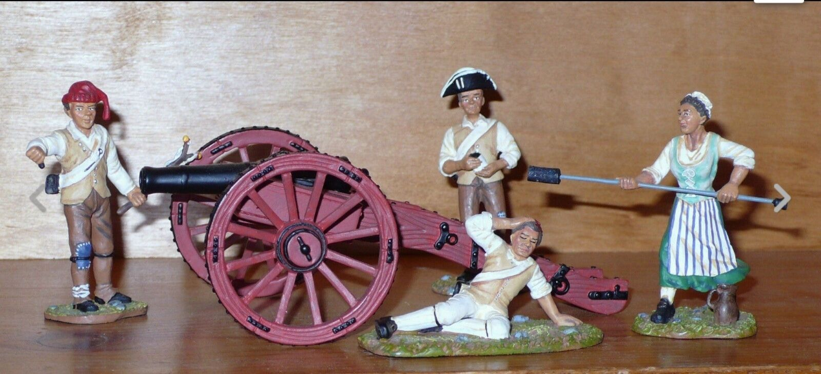 Britains  American Revolution 17451 MOLLY PITCHER SET w CANNON in Original Box