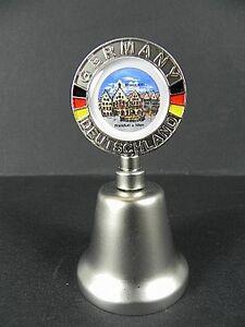 Metallglocke-Recuerdo-Francfort-Romanos-Germany-Alemania-8cm-Campanas-Nuevo